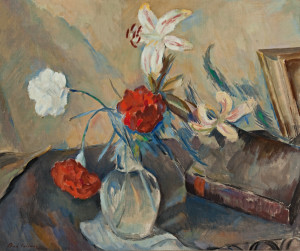 Carnations and Lilies Oil on canvas, 20 x 24 inches, 1930.