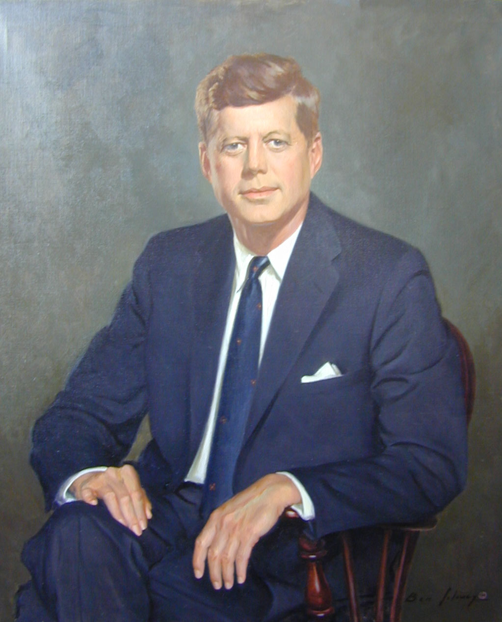 Portrait of John F. Kennedy, Norman Rockwell Saturday Evening Post ...